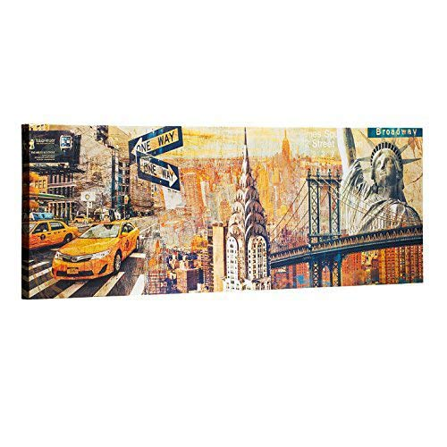 ArtKisser New York City Wall Art on Canvas Sunkissed Manhattan Chrysler Building Statue of Liberty NYC Wall Decor Prints Art Wood Framed and Stretched Ready to Hang for Bedroom 16
