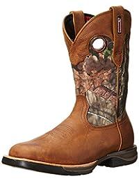 Rocky Western Boots Mens LT Honeycomb Waterproof Camo Brown RKW0154