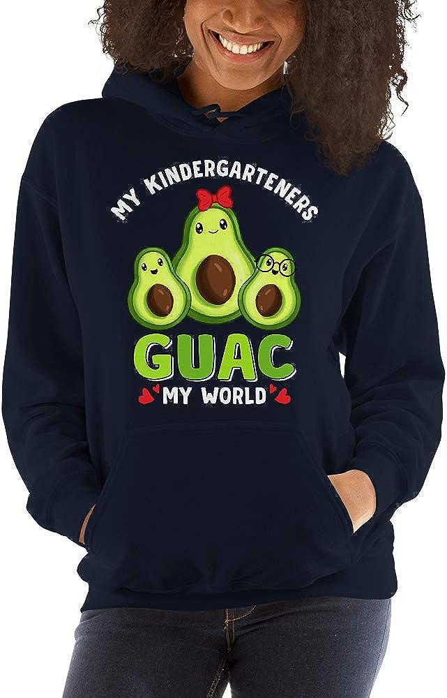 TEEPOMY My Kindergarteners Guac My World Avocado Teacher Valentines Unisex Hoodie