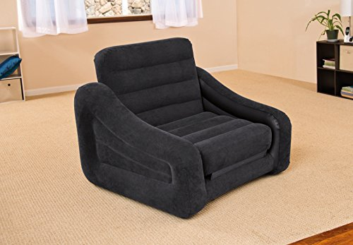 (Intex Inflatable Pull-Out Chair and Twin Bed Mattress Sleeper   68565EP)