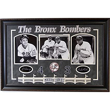 a41123488 Bronx Bombers Lou Gehrig and Babe Ruth Framed Collage at Amazon's Sports  Collectibles Store