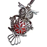 YOur perSOnal STYlish Essential oil necklace Steampunk owl d1 0