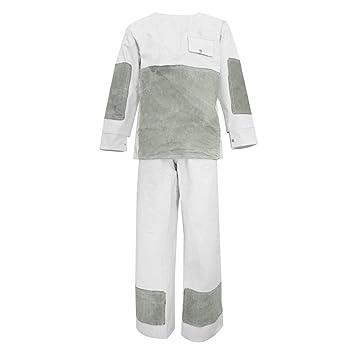 FLAMEER Traje de Soldar Pantalon Largo Ropa Productos de Laboratorios Materiales de Ciencia: Amazon.es: Oficina y papelería