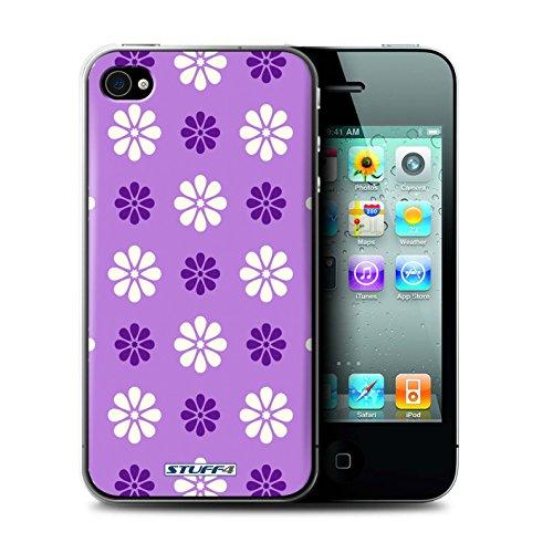 Coque de Stuff4 / Coque pour Apple iPhone 4/4S / Violet Design / Motif avec pétales Collection