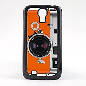 LJF phone case Case Fun Case Fun Orange Camera Snap-on Hard Back Case Cover for Samsun Galaxy S4 Mini (I9190)