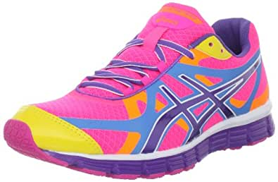 Asics Womens Gel-Extreme33 LightningSilvrNeon Coral Running-Shoes US 9.5 NIB