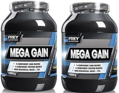 Frey Nutrition Mega Gain 2 x 1000g Dose 2er Pack Vanille