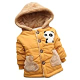 sunnymi Baby Thick Warm Coat Toddler Boys Girls Autumn Winter Hooded Cloak Clothes (Yellow, 4 Year old)