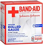 Band Aid Rolled Gauze Medium - 5 rolls, Pack of 2