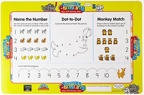 (Numbers and Counting Write-On Activity Mat (Wipe-Off Activity Mats))