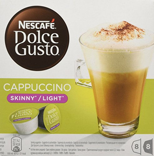 Nescafé Dolce Gusto Skinny Cappuccino, Pack of 3, 3 x 16 Capsules 24 Servings