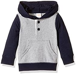 Gymboree Baby Toddler Boys\' Hooded Henley Tee, Dark Marine, 4T
