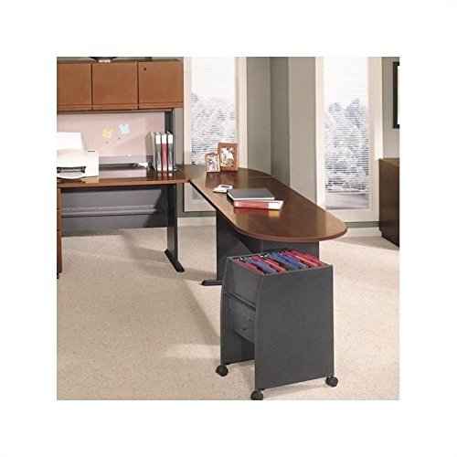 Bush Business Series A Hansen Cherry Left L-Shaped Desk with Peninsula ()