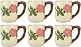 Franciscan Desert Rose, Set of 6 Large Mugs 15oz (SECOND QUALITY)