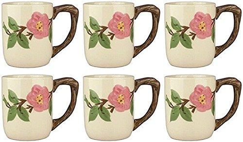 Franciscan Desert Rose, Set of 6 Large Mugs 15oz (SECOND (Franciscan Desert Rose Pattern)