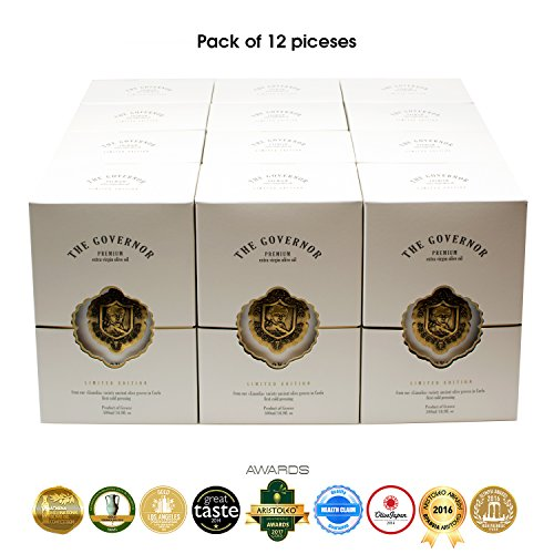 The Governor | Ultra Premium Unfiltered Extra Virgin Olive Oil | Olive Oil Polyphenols with Robust Health-Giving Properties | Limited Edition Cold-Pressed | Luxury Glass Bottle | 500ml (Pack of 12) by The Governor (Image #2)