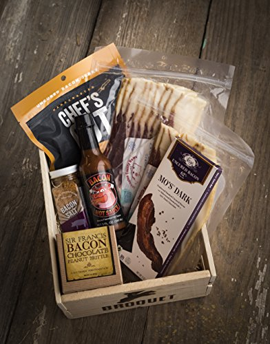 Bacon Gift Pack (Bacon Lover Sampler Set) - Bacon Six Ways - Gourmet Food Gift - Great Gift For Men - Comes in a Wooden Gift Crate by Broquet (Image #5)