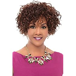 Vivica A Fox 100% Human Hair Pure Stretch Cap Full Wig - WHITNEY (1B [Off Black])