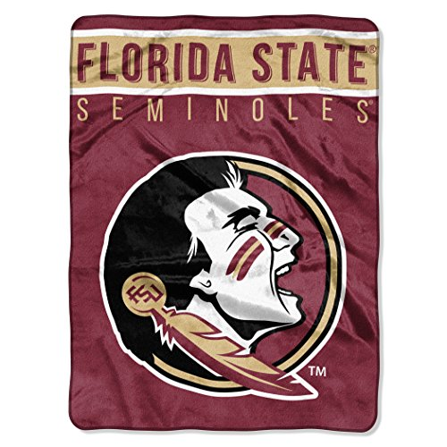 The Northwest Company Officially Licensed NCAA Florida State Seminoles Basic Raschel Throw Blanket, 60