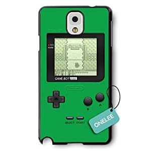Onelee(TM) - Black Hard Plastic Nintendo Gameboy Samsung Galaxy Note 3 Case & Cover - Black 5
