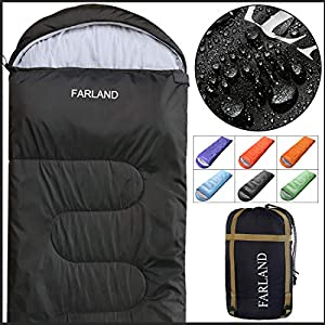 FARLAND Sleeping Bag 0 Degree to 20 Fahrenheit for 4 Seasons Envelope Mummy andDouble Lightweight Portable Waterproof for Adults & Kids,Perfect for Traveling,Hiking and Outdoor Activities