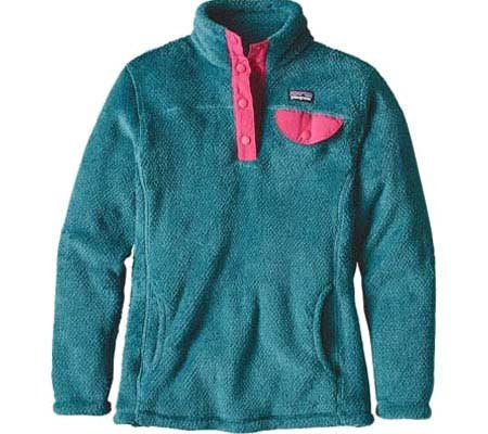 Girls Re-Tool Snap-T Pullover Epic Blue Deep Sea Blue X-Dye, XXL by Patagonia