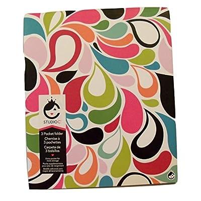 Studio C Carolina Pad Tri-fold 3-Pocket Folder, Sugarland (Flower Petals): Toys & Games