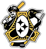 Pittsburgh-Three Rivers Roar Sports Fan Crest, sticker decal die cut vinyl, 4.1x4.5, Made in USA
