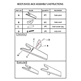 D.Jacware Wood Boot Jack, Boot Puller, 11.8