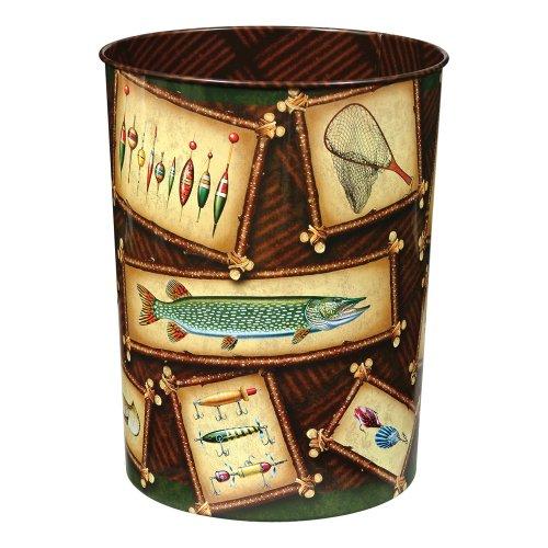 Jq wright fishing lodge waste basket wilderness bathroom for Bathroom accessories uae