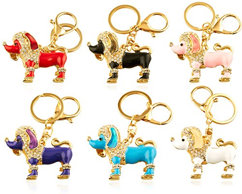 Dog 6 Charms Keychain - 4
