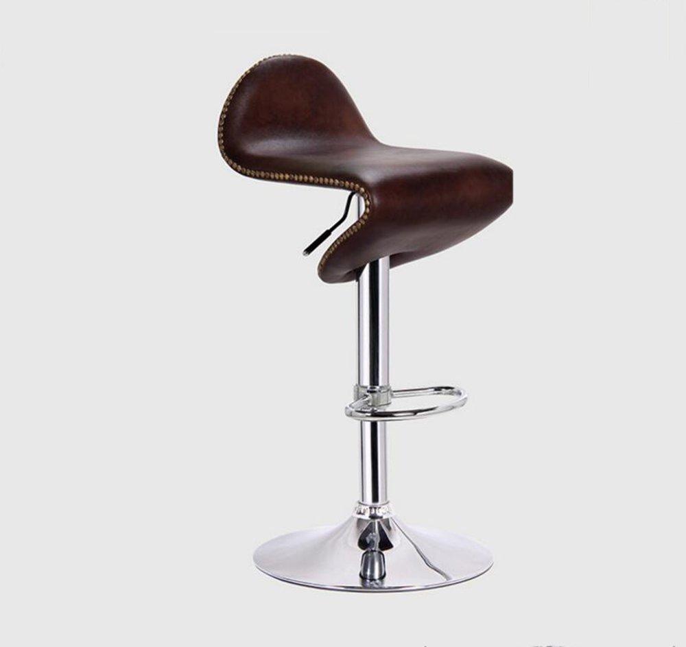 Retro style, copper nail decoration, European style bar chair / bar chair / high chair lift chair / front desk bar stool