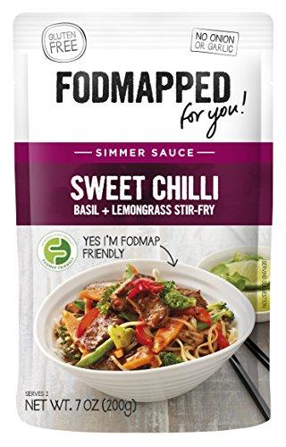 FODMAPPED - Low FODMAP Sweet Chili,Basil, Lemongrass Simmer Sauce 7 Oz (200g)