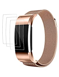 Band for Fitbit Charge 2 with Screen Protectors