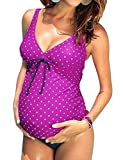 ZXZY Maternity Tankinis Women Floral Stripe Bikinis Swim Suit Beachwear