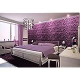 3 D Wandpaneel Dalle de plafond en polystyrène, Panneaux Lot de 72 dalles/18 m² cratères) - 3D