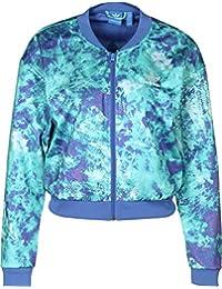 adidas Originals Womens Ocean Elements Cropped Full Zip Track Jacket Top - 12