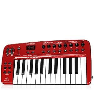 Behringer UMA25S - Teclado MIDI (USB, 460 x 220 x 46 mm, 2200 g)