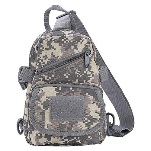 TOPINCN Bolso de Hombro Cross Body Backpack Bolso de Pecho Deportivo al Aire Libre para Acampar, Senderismo(ACU)