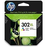 Original Tinte Passend für HP OfficeJet 3833 HP 302XL, 302XLC, 302XLCOLOR, NO302XL, NO302XLC, NO302XLCOLOR F6U67AE - 1x Premium Drucker-Patrone - Cyan, Magenta, Gelb - 330 Seiten - 8 ml