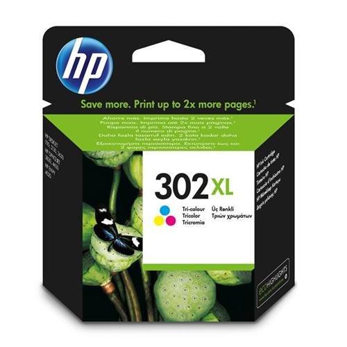 HP 302XL High Yield Tri-colour Original Ink Cartridge