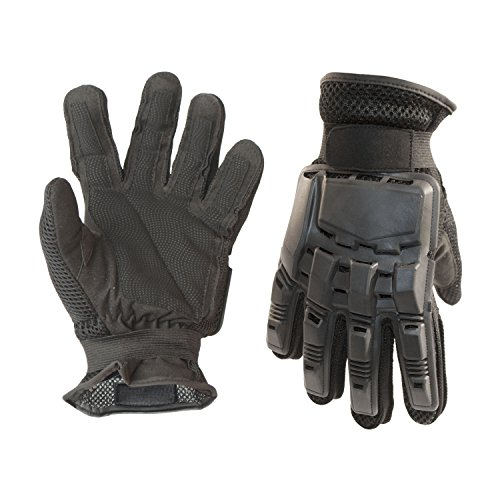 ALEKO PBFFG43M Medium Paintball Airsoft Outdoor Sports Military Tactical Full Finger Gloves, Black by ALEKO