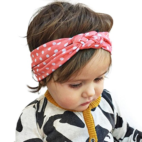 (FEITONG(TM) Fashion Lovely Dot Cross Children Weave Twist Headband Baby Girls Hair Accessories)