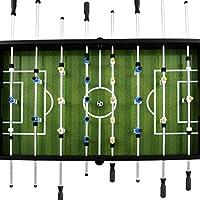 vidaXL Futbolín de Acero 60 kg 140x74,5x87,5 cm Negro Equipos Juegos Interior: Amazon.es: Deportes y aire libre