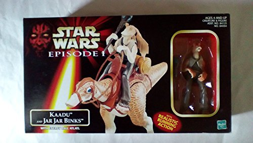 Japan Import Star Wars Episode 1 Creatures with figures Kadu with Jar Jar Binks
