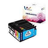 Vividcolor Compatible with HP 950 951 Ink Cartridge High Yield 2 Black 1 Cyan 1 Magenta 1 Yellow Work with HP Officejet Pro 8610 8600 8600Plus 8620 8630 8100 251dw 276dw Printer (5-Pack)