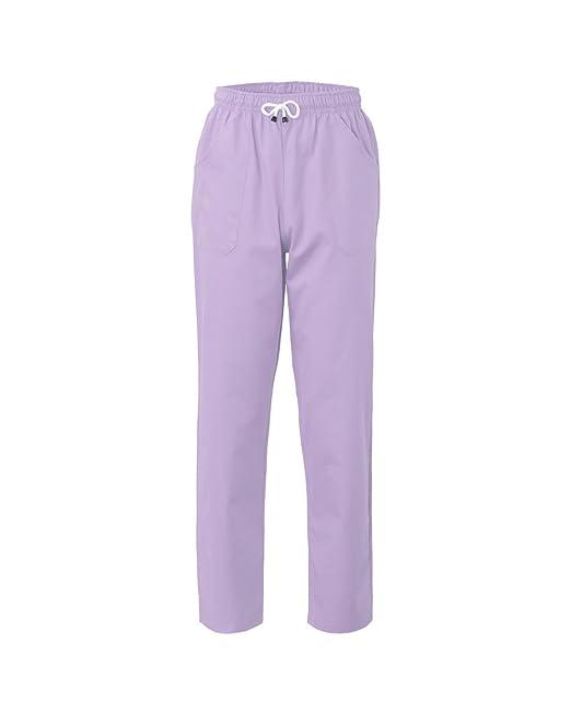 Da Uomo Poliestere Lavoro Lilla E Cotone Pantaloni Donna Pantalone IBxwvncWqT