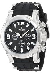 Lancaster Men's OLA0548SS-NR-NR Chronograph Black Dial Black Silicone Watch