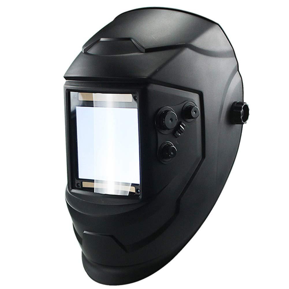 Solar Schweiß helm, 4 Arc Helm, groß e Sicht, automatische Verdunkelung, Schleifen, Solar Schweiß maske Free Size Schwarz Behavetw