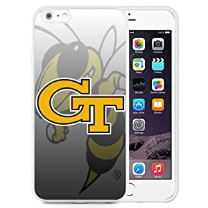 Fashionable And Unique Designed With NCAA Atlantic Coast Conference ACC Footballl Georgia Tech Yellow Jackets 4 Protective Cell Phone Hardshell Cover Case For iPhone 6 Plus 5.5 Inch White